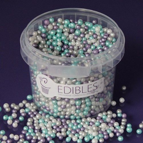 Purple Cupcakes 4mm Shimmer Pearls - Frozen - 80g